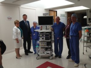 Endoscopy stacking unit