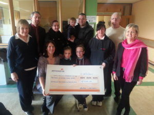 Handover of Cheque to Friends of Wexford General Hospital from Wax Shave or Dye fundraiser